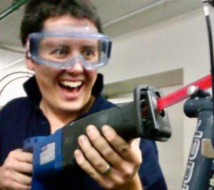 Removing a seized bike seat clamp bolt